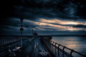 sky landscape pier