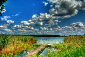 sky nature hdr lake landscape boat