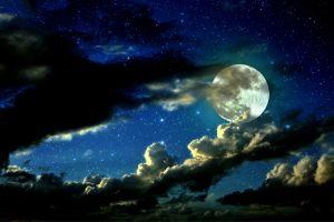 sky night clouds nature