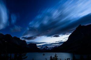 sky night nature mountains