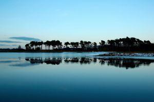 sky reflection landscape nature