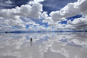 sky reflection nature landscape clouds fantasy art