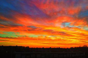 sky sunlight clouds sunset