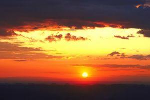 sky sunset clouds sunlight