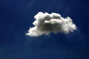 sky white blue clouds nature