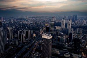 skyscraper city cityscape istanbul turkey