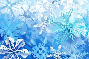 snow flakes artwork cyan