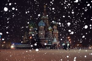 snow moscow city winter russia building