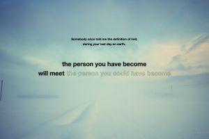snow typography quote