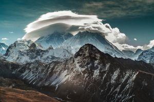 snow winter mount everest mountains nature