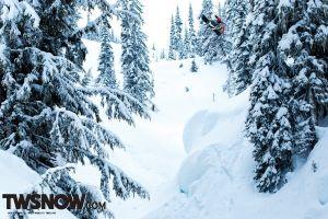 snowboard winter sport  trees snow