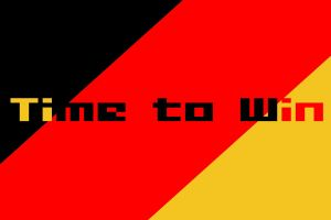 soccer germany red artwork black text gold