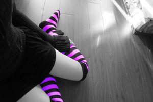 socks selective coloring model knee-highs women