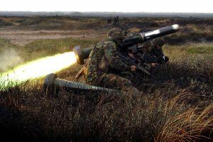 soldier rocket gun outdoors shooting men military camouflage