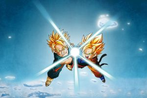 son goten anime super saiyan trunks (character) dragon ball kamehameha