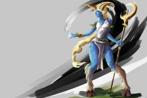 soraka fantasy art fantasy girl blue skin