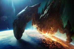 space art apocalyptic planet