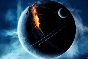 space art apocalyptic science fiction planet space digital art
