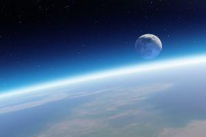 space art earth planet space digital art moon stars