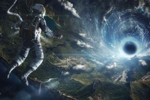 space art earth tunnel astronaut photography nasa landscape science fiction digital art futuristic anime artificial gravity wormholes aerial view space