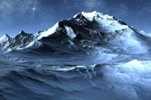 space art nature snow digital art landscape stars mountains