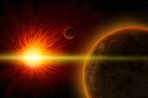 space art space digital art sun planet