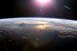 space art space horizon sun earth digital art
