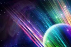 space art space planet digital art colorful