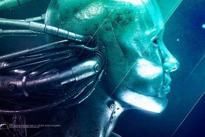 space axwell digital art swings robot lights