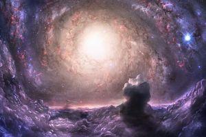 space digital art stars clouds gravity space art nebula fantasy art galaxy