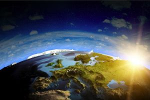 space earth planet world digital art space art europe landscape