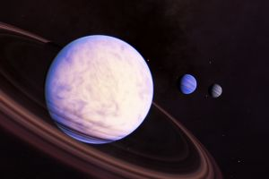 space engine planetary rings gas giant digital art planet space art