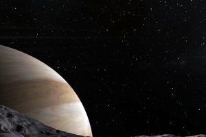 space engine stars planet triple screen cgi space art
