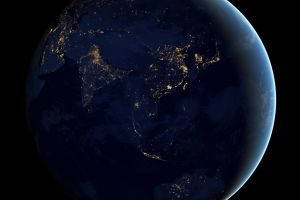 space night earth