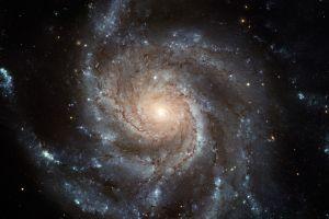 space planet space art spiral galaxy digital art galaxy universe