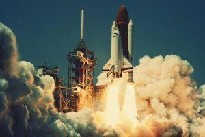space shuttle nasa launching
