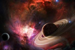 space space art planet colorful digital art