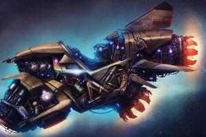 space spaceship fantasy art concept art artwork