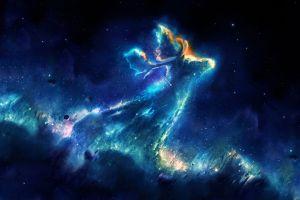 space stars space art digital art nebula