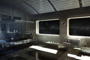 space station futuristic space art interior render digital art cgi science fiction space