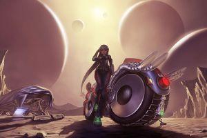 spaceship concept art fantasy art artwork women futuristic