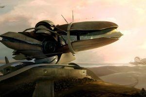 spaceship digital art concept art artwork science fiction