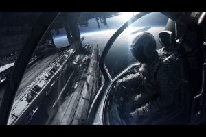 spaceship futuristic space andree wallin digital art