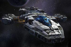spaceship science fiction anime