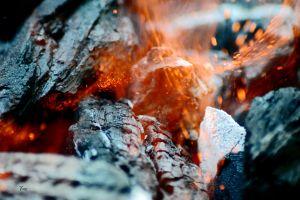 sparks fire macro burning