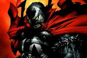 spawn comic art demon green eyes glowing eyes comics