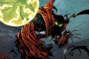 spawn comics demon green eyes glowing eyes