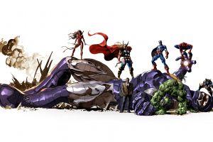 spider-man wolverine comics captain america thor sentinel elektra artwork the avengers hulk marvel comics