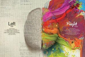splitting quote infographics colorful brain creativity mathematics paint splatter