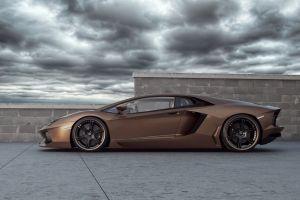 sports car brown cars car lamborghini aventador coupe